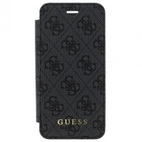 Guess Book 4G Charms Collection - Etui iPhone 8 Plus / 7 Plus z kieszeniami na karty (szary)