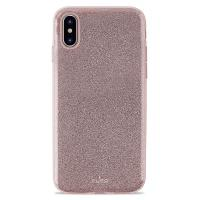 PURO Glitter Shine Cover - Etui iPhone Xs Max (Rose Gold)