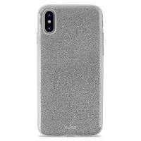 PURO Glitter Shine Cover - Etui iPhone Xs Max (Silver)