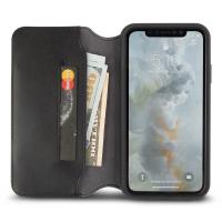 Moshi Overture - Etui iPhone Xs Max z kieszenią na karty + stand up (Charcoal Black)