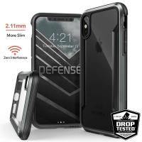 X-Doria Defense Shield - Etui aluminiowe iPhone Xs / X (Drop test 3m) (Black)