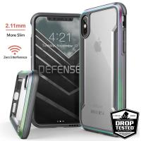 X-Doria Defense Shield - Etui aluminiowe iPhone Xs / X (Drop test 3m) (Iridescent)