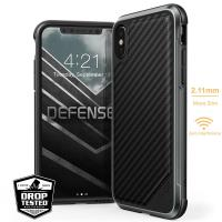 X-Doria Defense Lux - Etui aluminiowe iPhone Xs / X (Drop test 3m) (Black Carbon Fiber)