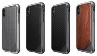 X-Doria Defense Lux - Etui aluminiowe iPhone Xs / X (Drop test 3m) (Black Leather)