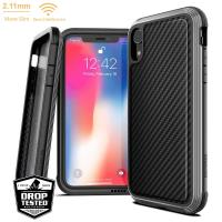 X-Doria Defense Lux - Etui aluminiowe iPhone XR (Drop test 3m) (Black Carbon Fiber)