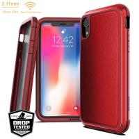 X-Doria Defense Lux - Etui aluminiowe iPhone XR (Drop test 3m) (Red Leather)