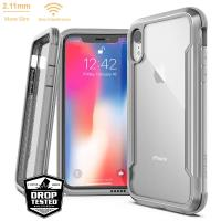 X-Doria Defense Shield - Etui aluminiowe iPhone XR (Drop test 3m) (Silver/Clear)