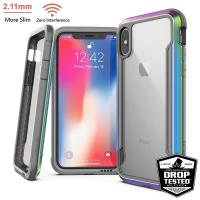 X-Doria Defense Shield - Etui aluminiowe iPhone Xs Max (Drop test 3m) (Iridescent)