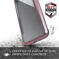 X-Doria Defense Shield - Etui aluminiowe iPhone Xs Max (Drop test 3m) (Rose Gold/Clear)