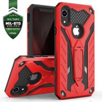 Zizo Static Cover - Pancerne etui iPhone XR z podstawką (Red/Black)
