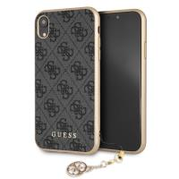 Guess 4G Charms Collection - Etui iPhone XR z zawieszką (szary)