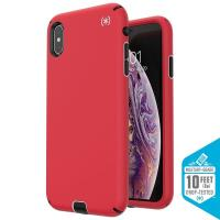 Speck Presidio Sport - Etui iPhone Xs Max (Heartrate Red/Sidewalk Grey/Black)