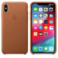 Apple Leather Case - Skórzane etui iPhone Xs Max (naturalny brąz)