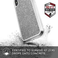 X-Doria Defense Lux - Etui aluminiowe iPhone Xs Max (Drop test 3m) (White Glitter)