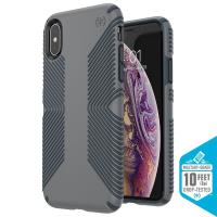 Speck Presidio Grip - Etui iPhone Xs / X (Graphite Grey/Charcoal Grey)