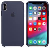Apple Silicone Case - Silikonowe etui iPhone Xs Max (nocny błękit)