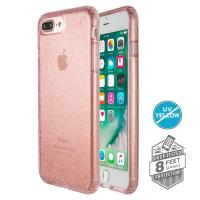 Speck Presidio Clear with Glitter - Etui iPhone 8 Plus / 7 Plus / 6s Plus / 6 Plus (Gold Glitter/Bella Pink)