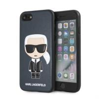 Karl Lagerfeld Iconic Karl  Embossed - Etui iPhone 8 / 7 (granatowy)