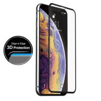 Just Mobile Xkin 3D Tempered Glass Screen Protector - Szkło ochronne hartowane iPhone Xs / X (Transparent/Black)