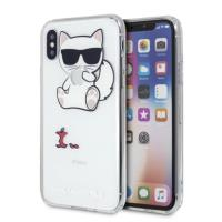 Karl Lagerfeld Choupette Fun Eaten Apple - Etui iPhone Xs / X (przezroczysty)