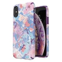 Speck Presidio Inked - Etui iPhone Xs / X (ResortMarble/Hyacinth Purple )