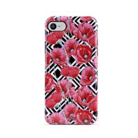PURO Glam Geo Flowers - Etui iPhone SE 2020 / 8 / 7 / 6s (Red Poppies)