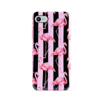 PURO Glam Miami Stripes - Etui iPhone 8 / 7 / 6s / 6 (Flamingo)