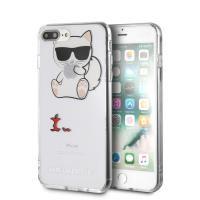 Karl Lagerfeld Choupette Fun Eaten Apple -  Etui iPhone 8 Plus / 7 Plus (przezroczysty)