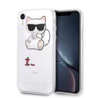 Karl Lagerfeld Choupette Fun Eaten Apple - Etui iPhone XR (przezroczyste)