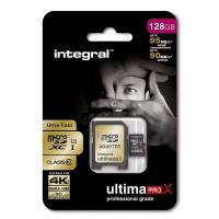 Integral UltimaPro - Karta pamięci 128 GB microSDHC/XC 90MB/s Class 10 UHS-I U1 + Adapter
