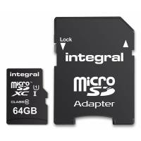 Integral Ultima Pro Premium High Speed - Karta pamięci 64 GB microSDHC/100 MB / s/ Class 10 UHS-I U1/ V10 + Adapter