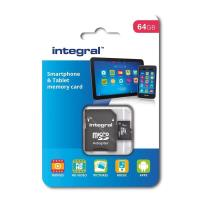 Integral Smartphone and Tablet - Karta pamięci 64 GB microSDHC/XC 90MB/s Class 10 UHS-I U1 + adapter