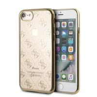 Guess 4G Transparent - Etui iPhone 8 / 7 (złoty)