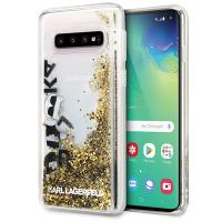 Karl Lagerfeld Signature Glitter Case - Etui Samsung Galaxy S10+ (Floatting Charms)