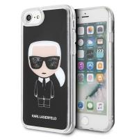 Karl Lagerfeld Iconic Karl - Etui iPhone 8 / 7 (Black Glitter)