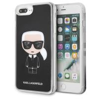 Karl Lagerfeld Iconic Karl - Etui iPhone 8 Plus / 7 Plus (Black Glitter)