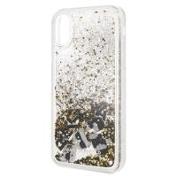 Karl Lagerfeld Signature Glitter Case - Etui iPhone Xs / X (Floatting Charms)