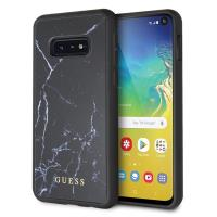 Guess Marble Tempered Glass Hardcase - Etui Samsung Galaxy S10e (czarny)