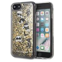 Karl Lagerfeld Signature Glitter Case - Etui iPhone 8 / 7 (Floatting Charms)
