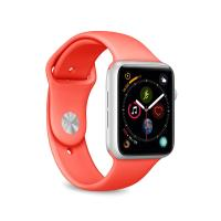 PURO ICON Apple Watch Band - Elastyczny pasek sportowy do Apple Watch 38 / 40 mm (S/M & M/L) (Living Coral)