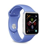 PURO ICON Apple Watch Band - Elastyczny pasek sportowy do Apple Watch 42 / 44 mm (S/M & M/L) (Blue Formentera)
