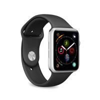 PURO ICON Apple Watch Band - Elastyczny pasek sportowy do Apple Watch 38 / 40 mm (S/M & M/L) (czarny)