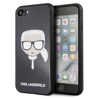 Karl Lagerfeld Karl's Head Double Layers Glitter Case - Etui iPhone 8 / 7 (Black)