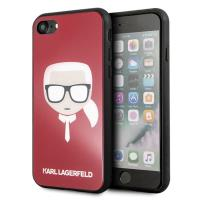 Karl Lagerfeld Karl's Head Double Layers Glitter Case - Etui iPhone Xs / X (Red)