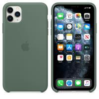 Apple Silicone Case - Silikonowe etui iPhone 11 Pro Max (zielony)