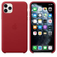 Apple Leather Case - Skórzane etui iPhone 11 Pro Max (czerwony) (PRODUCT)RED