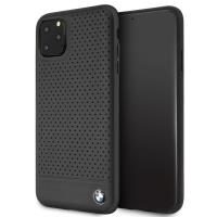 BMW Perforated Horizontal Smooth Leather - Etui iPhone 11 Pro Max (czarny)
