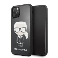 Karl Lagerfeld Double Layer Glitter Iconic - Etui iPhone 11 Pro (czarny)
