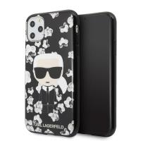 Karl Lagerfeld Iconic Karl Flower - Etui iPhone 11 Pro (czarny)