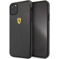 Ferrari On Truck Racing Shield Hardcase - Etui iPhone 11 Pro Max (Carbon Effect/Black)